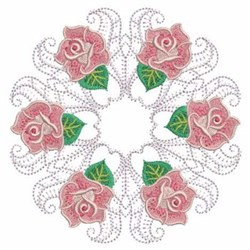 Rose Wreath Quilt Block embroidery design
