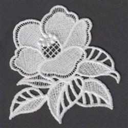 FSL White Bloom embroidery design