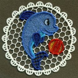 FSL Dolphin Doily embroidery design