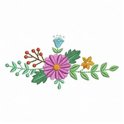 Beautiful Floral Border embroidery design