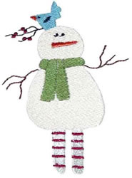 Snowfella embroidery design