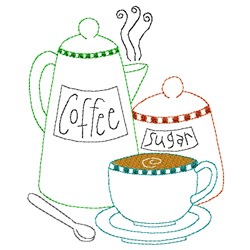 Coffee & Sugar embroidery design