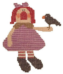 Crow Annie embroidery design