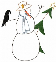 Snowman and Friend embroidery design