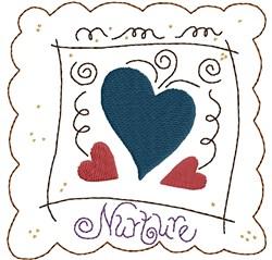 Nurture fill embroidery design