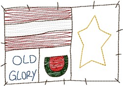 Old Glory Flag embroidery design