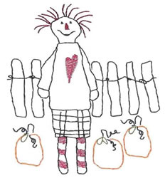 Whimsy Raggedy embroidery design