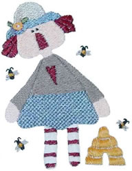 Bee Keep Annie embroidery design