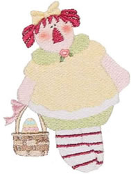 Easter Annie embroidery design