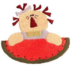 Melon Annie embroidery design
