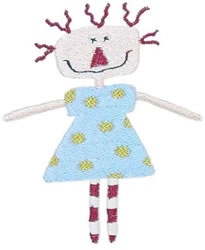 Dotted Annie embroidery design