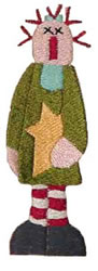 Tall Star Annie embroidery design