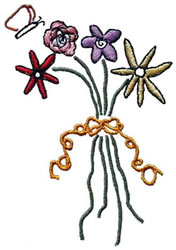 Flowers Bunch embroidery design