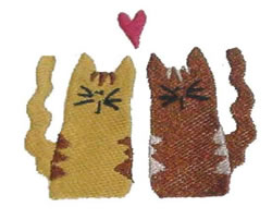 Prim Kitties embroidery design