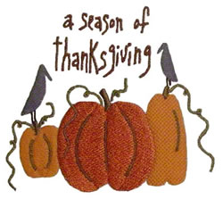 Thanksgiving Crows embroidery design