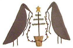 Crows with Lights embroidery design