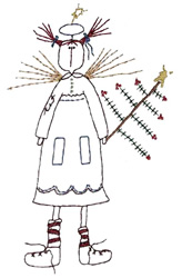 Angel Raggedy embroidery design