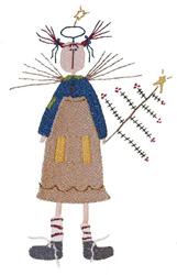 Angel Raggedy (fill) embroidery design