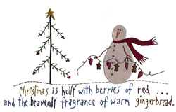 Christmas Is - Fill embroidery design