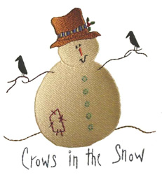 Crows in the Snow - Fill embroidery design