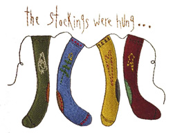 Stockings Were Hung embroidery design