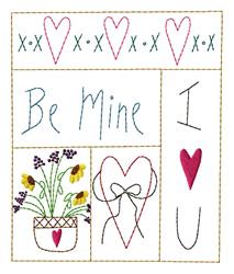 Valentine Sampler embroidery design