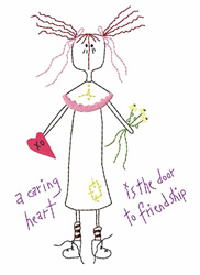 Caring Heart embroidery design