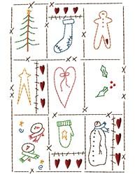 Christmas Sampler embroidery design