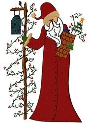 Santa with Birdhouse embroidery design