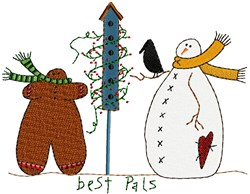 Snowman & Gingerbread embroidery design