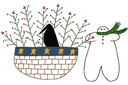Gingerbread Basket embroidery design