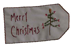 Merry Christmas Tag embroidery design