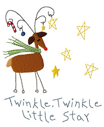 Rudy Twinkle embroidery design