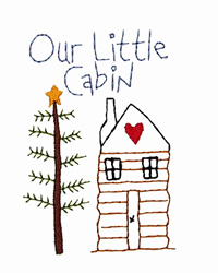 Our Little Cabin embroidery design
