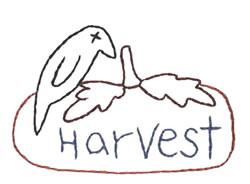 Harvest Crow Punkin embroidery design