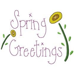 Spring Greetings embroidery design