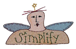 Simplify Angel embroidery design