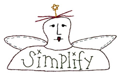 Simplify Angel - Outline embroidery design
