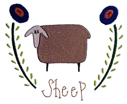 Sheep Vine - Fill embroidery design