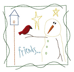 Friends Quilt Square embroidery design