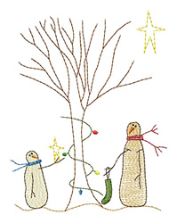 Tree Decorating embroidery design