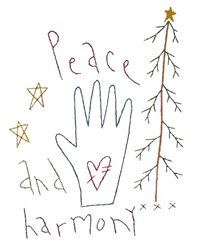 Peace and Harmony embroidery design