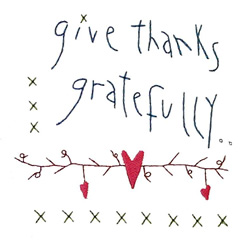 Give Thanks Gratefully embroidery design