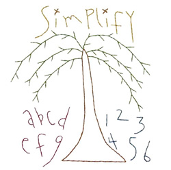 Simplify Willow embroidery design