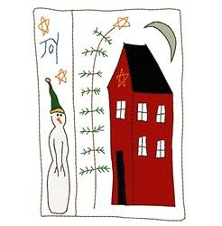 Joy Card embroidery design