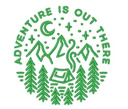 Adventure Out There embroidery design