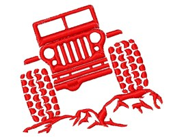 Off Road Jeep embroidery design