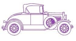 Old Car Outline embroidery design