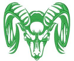 Ram Head embroidery design