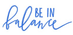 Be In Balance embroidery design